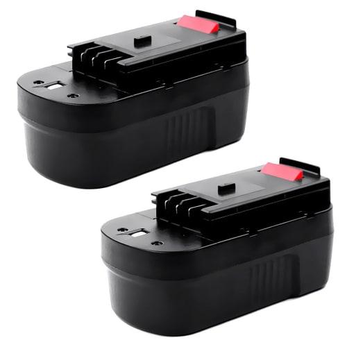 2x Batterij 18V, 3Ah, NiMH voor Black & Decker CD18S / CD18SFRK / CD18SK / EPC18 / EPC18CA / EPC186 / EPC186BK - A18, A18E, FSB18 vervangende accu