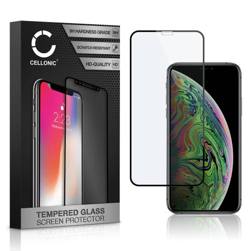Displaybeschermglas Apple iPhone Xs (3D Case-friendly, 9H, 0,33mm, Full Glue) Tempered Glass