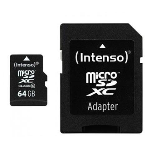 microSDXC Geheugenkaart 64GB Class 10 van Intenso