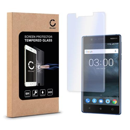 Vetro protettivo di schermo per Nokia 3 (2017) - Tempered Glass (Qualità HD / 2.5D / 0,33mm / 9H)
