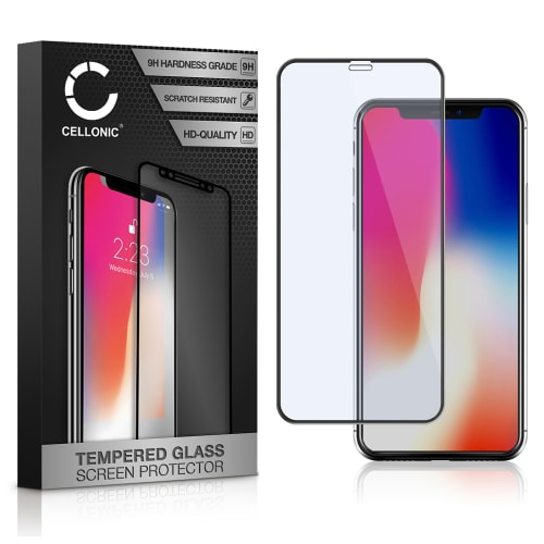 Displaybeschermglas Apple iPhone X (3D Case-friendly, 9H, 0,33mm, Full Glue) Tempered Glass