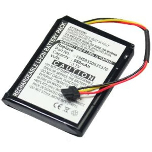 Battery for TomTom ONE 125 ONE 130 ONE 130S (950mAh)