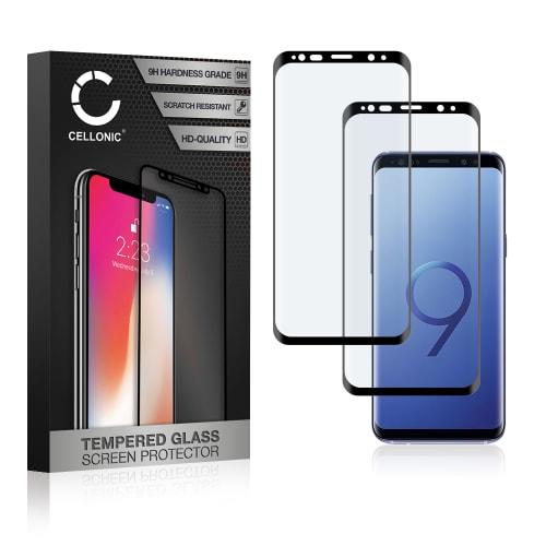2x Panzerglas Samsung Galaxy S9 (SM-G960) (3D Full Cover, 9H, 0,33mm, Full Glue) Displayschutz Tempered Glass