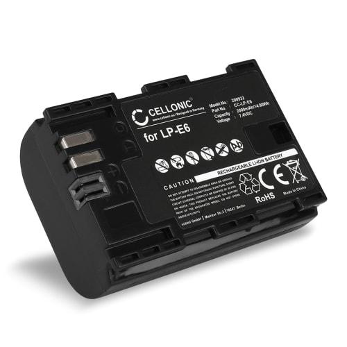 Batterie pour Canon EOS 5D, 6D, 60D, 7D, 70D, 80D, XC10, WFT E5, EFT E7 - LP-E6,LP-E6N (2000mAh) Batterie de remplacement