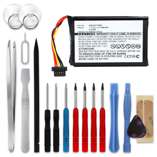 Battery for TomTom GO 940 Live - AHL03714001 (1100mAh) + Tool-kit Spare Battery Replacement