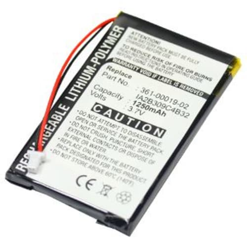 Battery for Garmin nüvi 300 300T, nüvi 310 310 Deluxe 310T, nüvi 350 350T, nüvi 360 360T, nüvi 370 - 010-00538-78,361-00019-02,361-00019-06,IA2B309C4B32 (1250mAh) Replacement battery