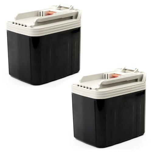 2x Batteria 24V, 3.3Ah, NiMH per Makita BDF460 / BHP460 / BHR200 / BJR240 / BLS820 / BML240 / BSR730 / BTD200 - BH2420, BH2433, B2417 batteria di ricambio