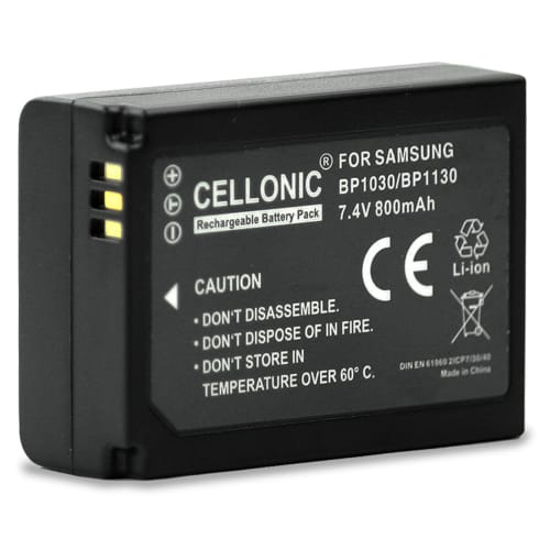 Batterij voor Samsung NX500 NX300 NX300M NX1000 NX2000 NX1100 NX200 NX210 NX310 - BP1030 / BP1130 (800mAh) vervangende accu