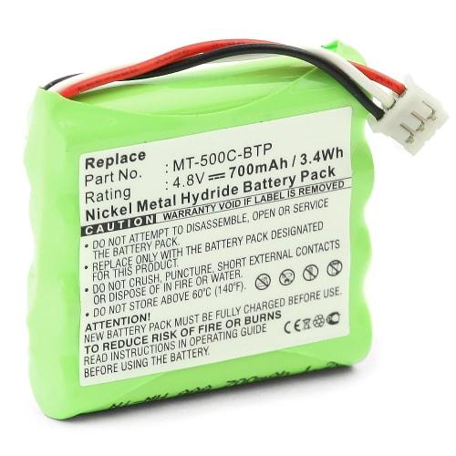 Batterij voor Crestron MT-500C MT-500C-RF TSU6010 - MT-500C-BTP (700mAh) vervangende accu