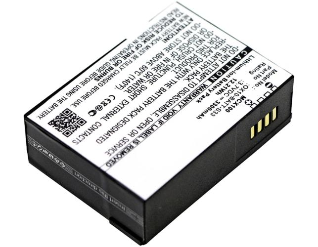 Batterie pour M3 Mobile Orange, M3 Mobile OX-10, M3 Mobile RFID OX10 - OX10-BATT-S33 (3300mAh) Batterie de remplacement