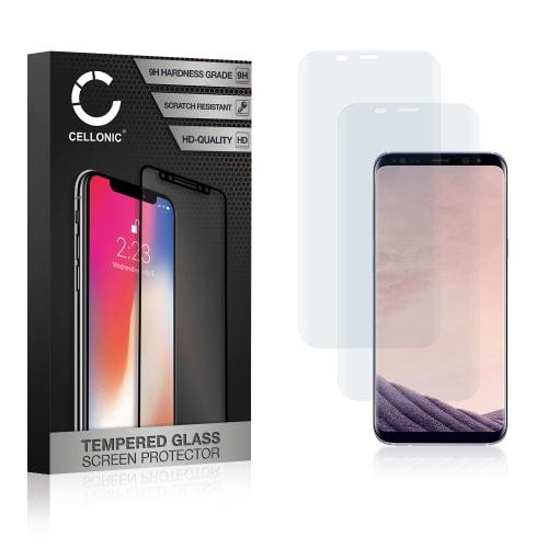 2x Panzerglas Samsung Galaxy S8 Plus (SM-G955 / SM-G955F) (3D Full Cover, 9H, 0,33mm, Edge Glue) Displayschutz Tempered Glass