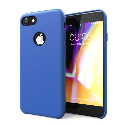 Hoesje iPhone 8 / iPhone 7 Siliconen donkerblauw Case Cover Back Cover