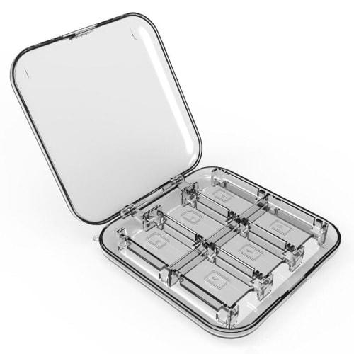 Boîte de rangement pour 12 Nintendo Switch Games - Plastique, Transparent Housse Pochette