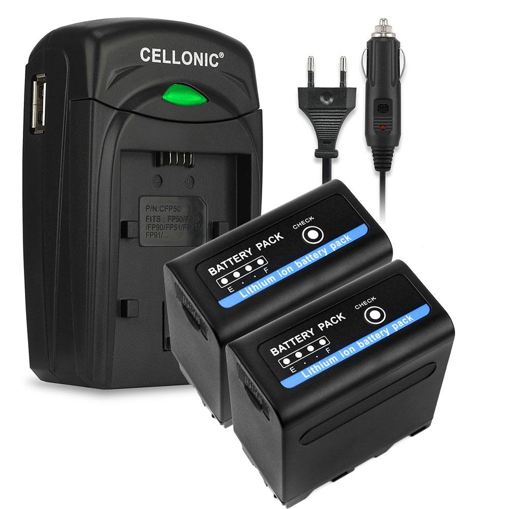 2x Sony MVC-FD83 Batterie 2x Batterie pour Sony DSR-PD150, -PD170, FDR-AX1,... par LeGuide.com Publicité