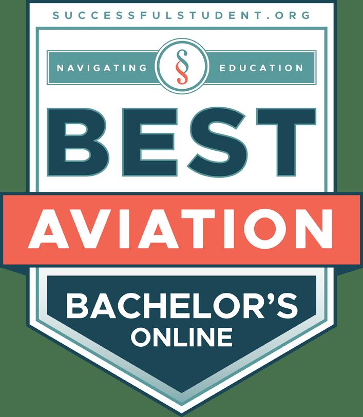 The Best Online Bachelor's Degrees in Aviation's Badge