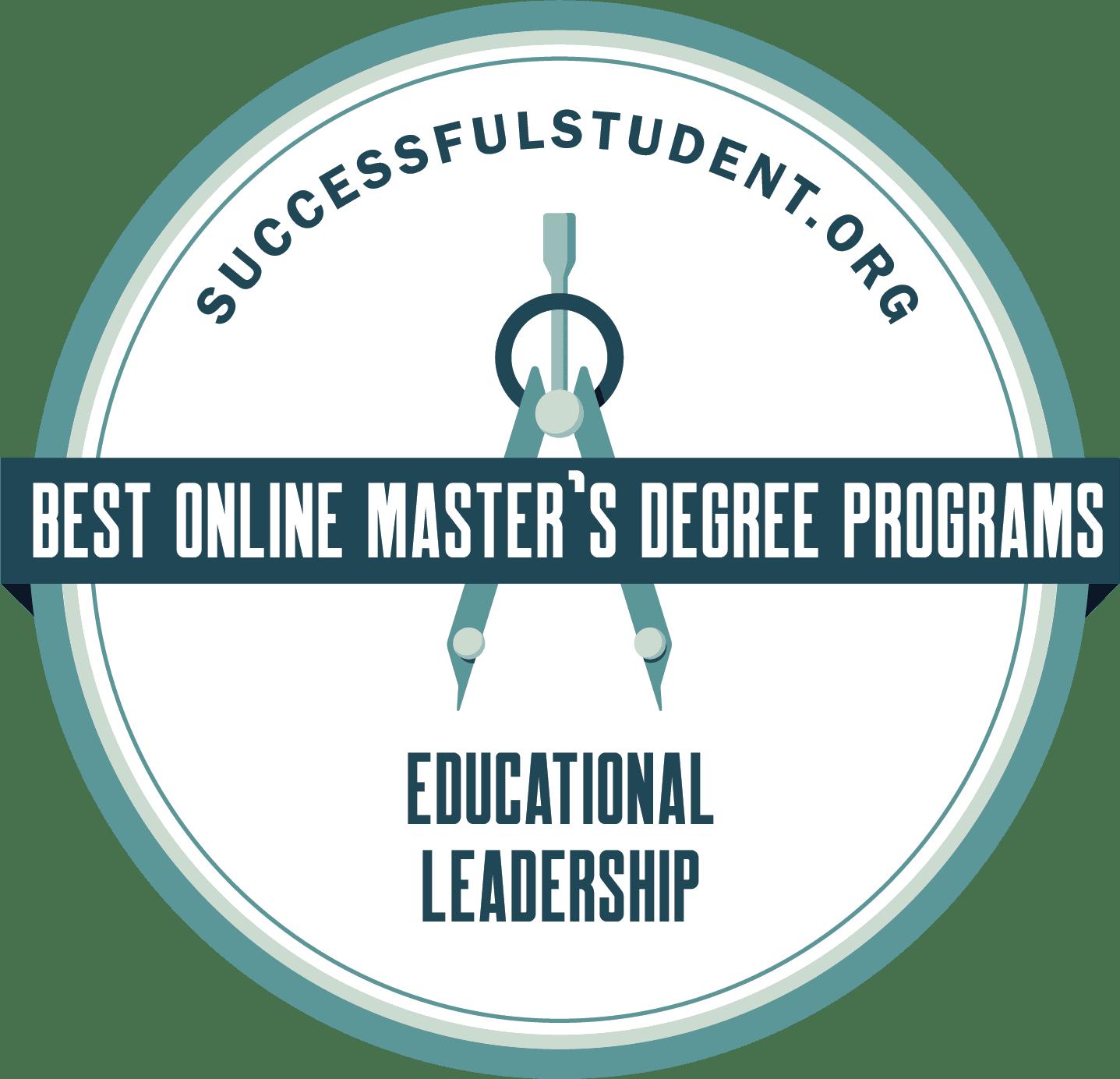 The 25 Best Online Master's in Educational Leadership Degree Programs's Badge