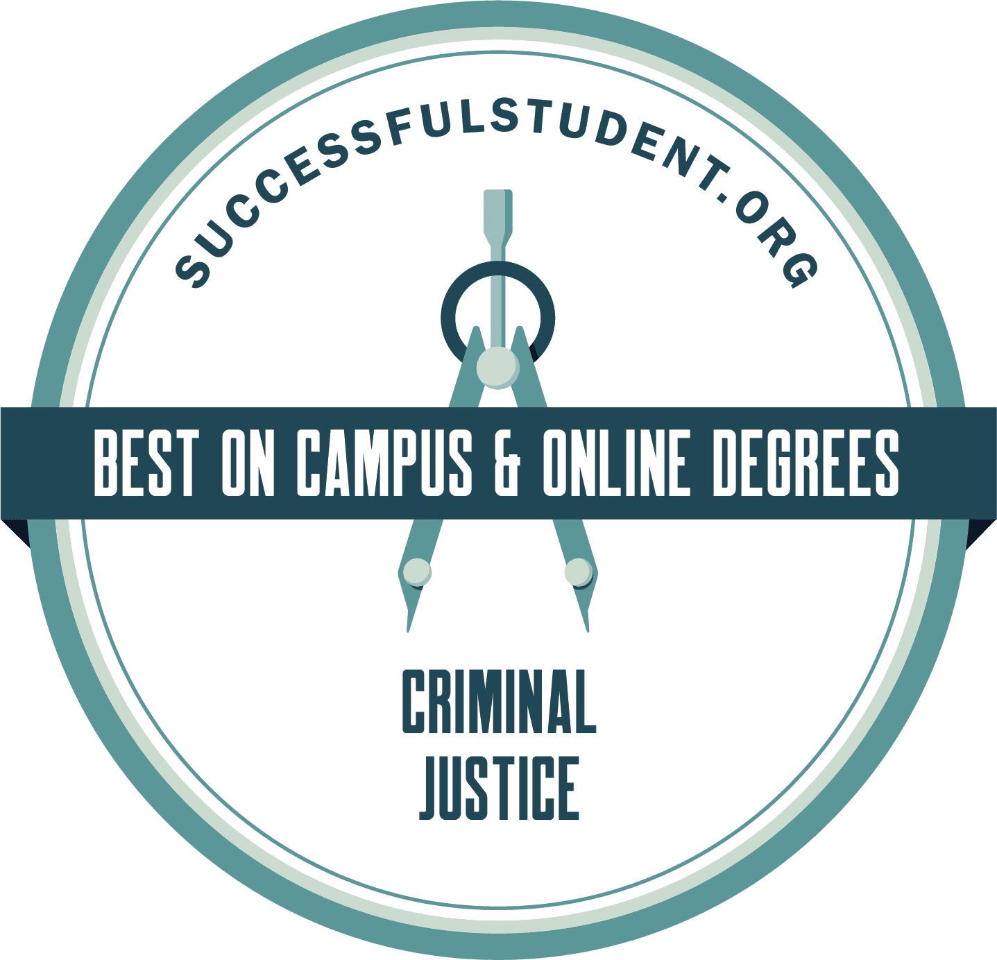 Criminal Justice Degree: The 50 Best Programs's Badge