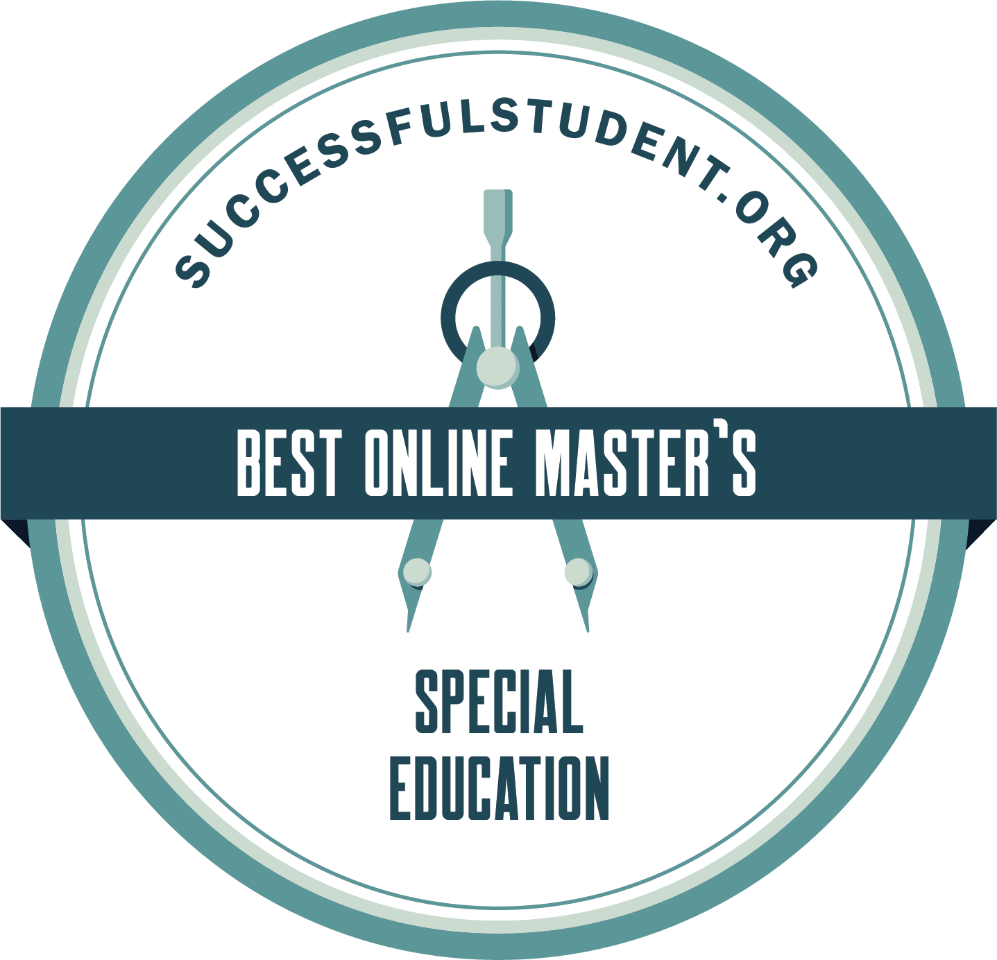 The 25 Best Online Master's in Special Education's Badge