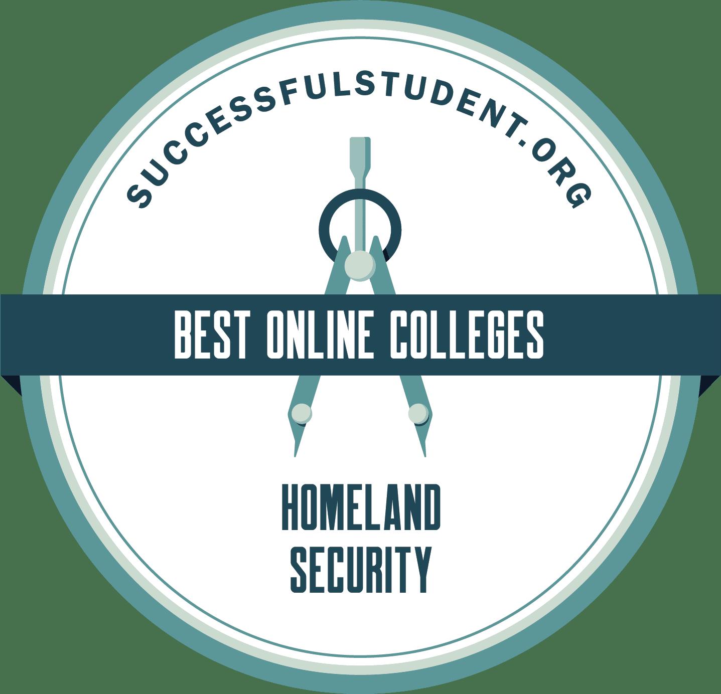 26 Best Homeland Security Colleges Online's Badge
