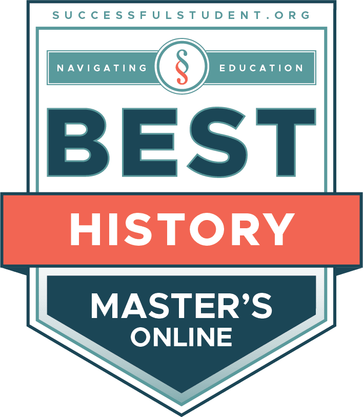20 Best Online Master's in History Programs's Badge