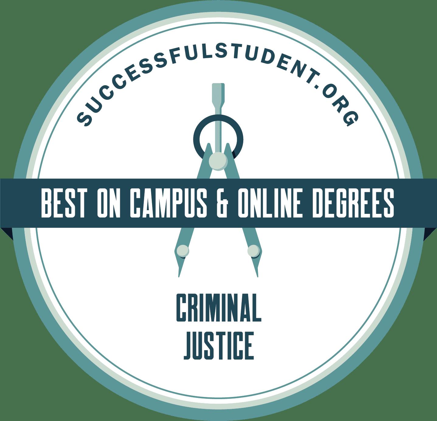 Criminal Justice Degree: The 50 Best Schools's Badge