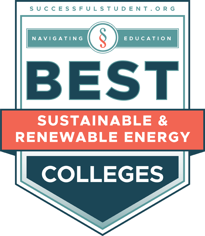 22 Best Sustainable and Renewable Energy Colleges's Badge