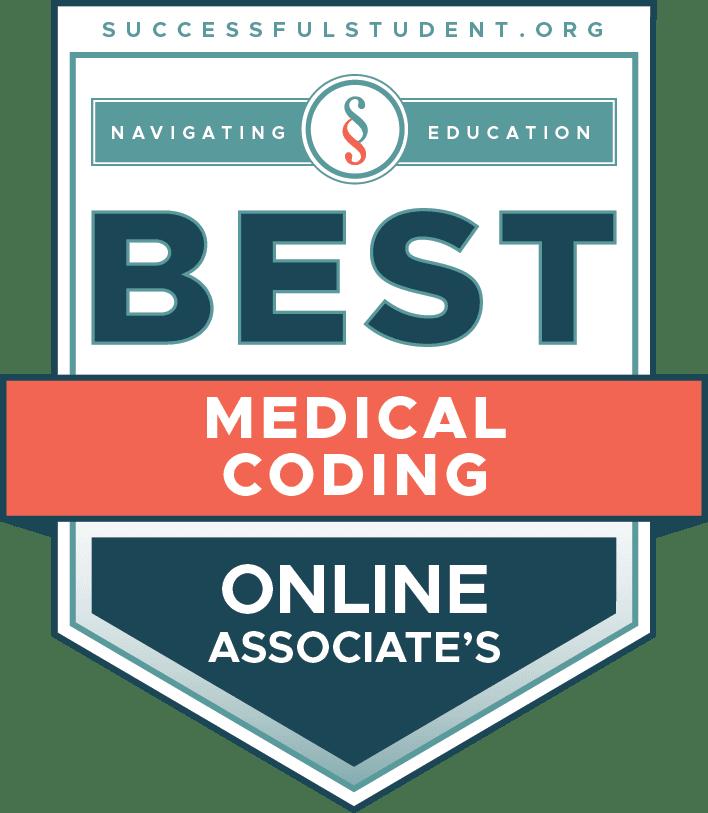 The Best Online Associate's Degrees in Medical Coding's Badge