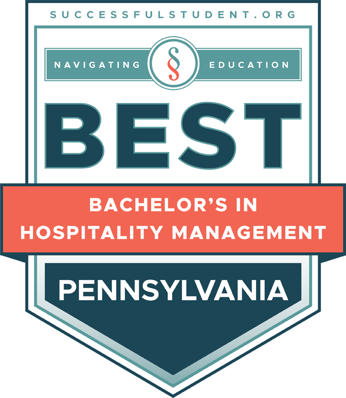 The Best Bachelor's Degrees in Hospitality Management in Pennsylvania's Badge