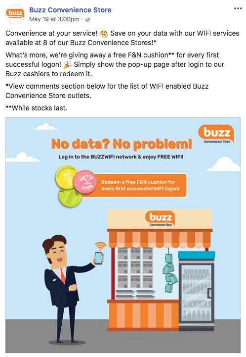 SPH - Buzz Convenience Stores Rolls Out Social WiFi At