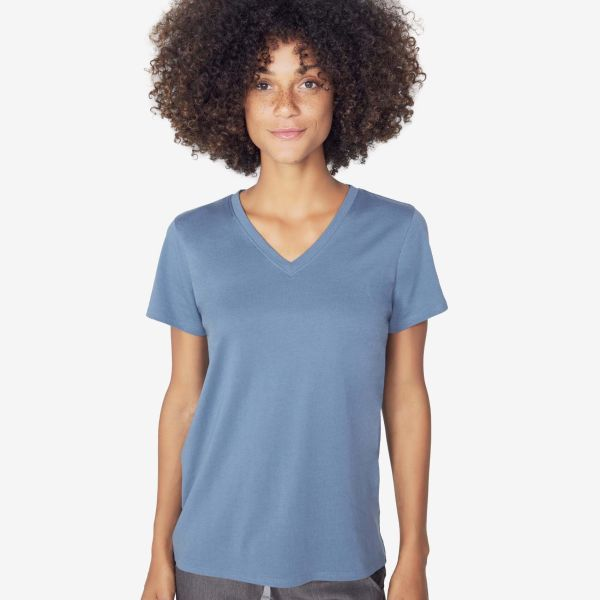 3b52b48cb9 women s Stellar Blue Super Soft - Shortsleeve V-Neck Underscrub