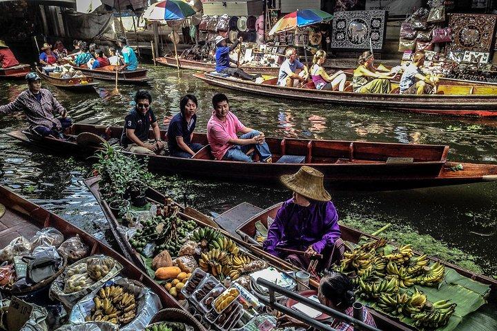 Bangkok Floating market and Elephant Bathing (minimum 2 pax)