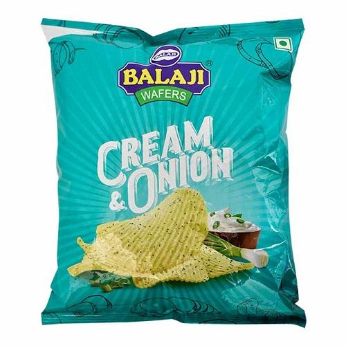 BALAJI CREAM AND ONION WAFERS (150 GRAM)