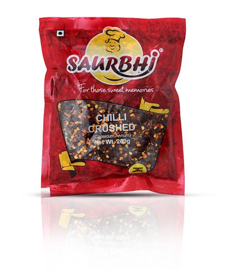 SAURBHI CHILLI CRUSHED (500 GRAM)