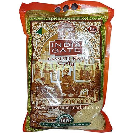 INDIA GATE GOLDEN SELLA BASMATI RICE (5 KG)