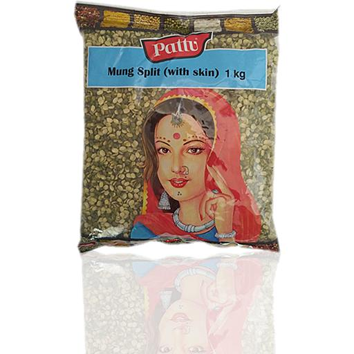 PATTU MUNG SPLIT WITH SKIN (1 KG)