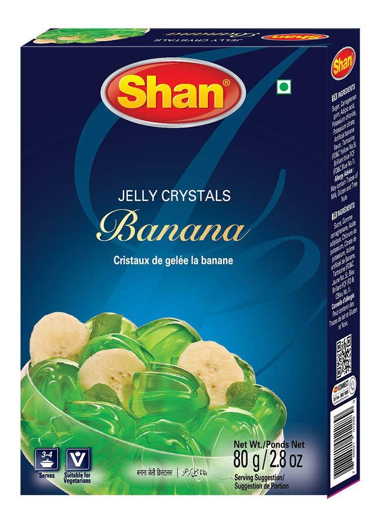 SHAN JELLY CRYSTALS BANANA 80G