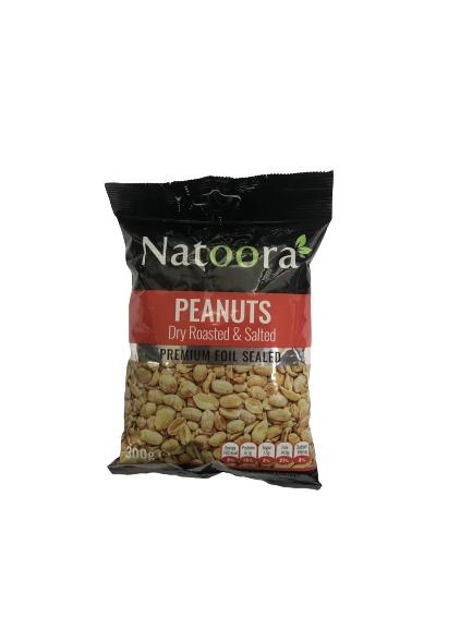NATOORA DRY ROASTED & SALTED PEANUTS (300 GRAM)