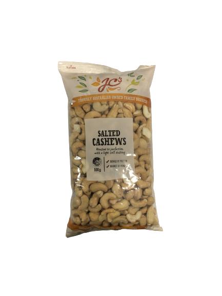 JC S SALTED CASHEWS (500 GRAM)