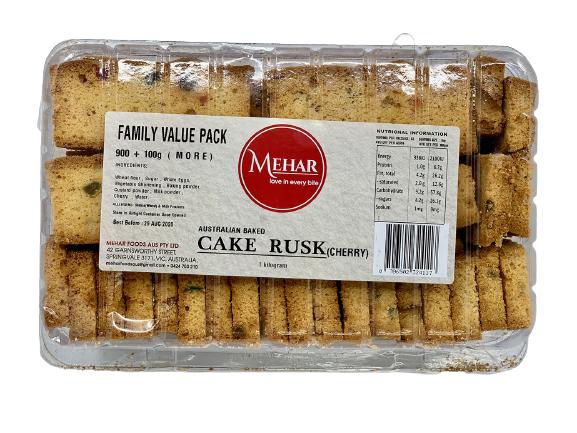 MEHAR CAKE RUSK CHERRY (900 GRAM)