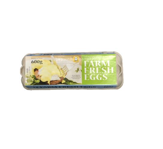 PIROVIC FARM FRESH EGGS 600 GRAM (12 EGGS)[1 PACKET]