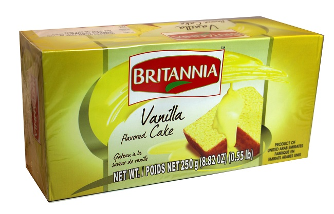 BRITANNIA VANILLA CAKE (250 GRAM)