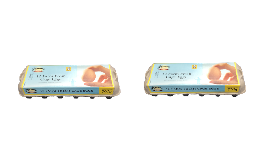PIROVIC FARM FRESH EGGS 700 GRAM (12 EGGS) [2 PACKETS]