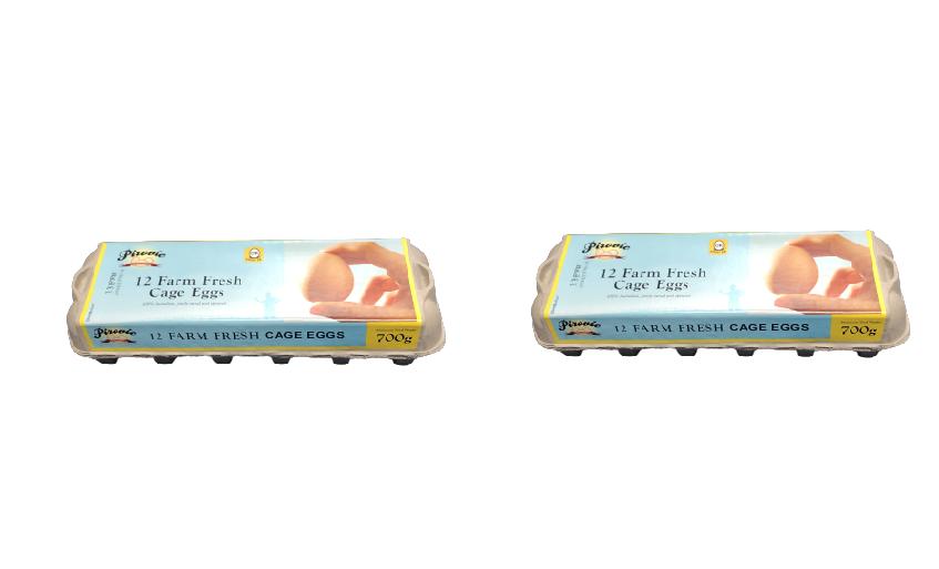 PIROVIC FARM FRESH EGGS 700 GRAM (12 EGGS) [2 PACKETS]