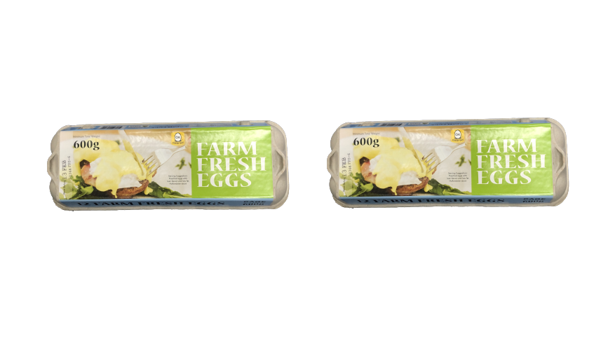 PIROVIC FARM FRESH EGGS 600 GRAM (12 EGGS)[2 PACKET]