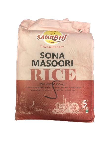 SAURBHI SONA MASOORI RICE (5 KILO)