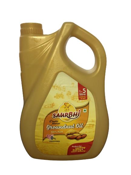 SAURBHI GROUNDNUT OIL 5 LITRE