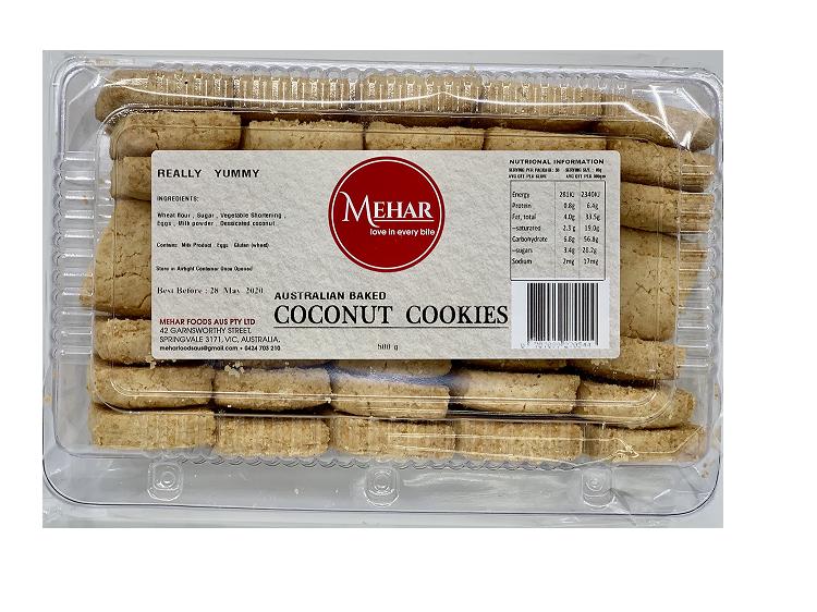 MEHAR COCONUT COOKIES 500 G