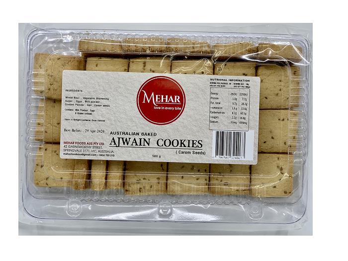 MEHAR AJWAIN COOKIES (500 GRAM)