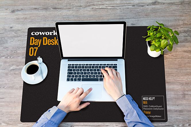 Custom Printed Counter Mat for wework shared office