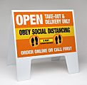 Social Distancing Sandwich Board A-Frame Sign